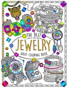 Coloring book adult jewelry cover