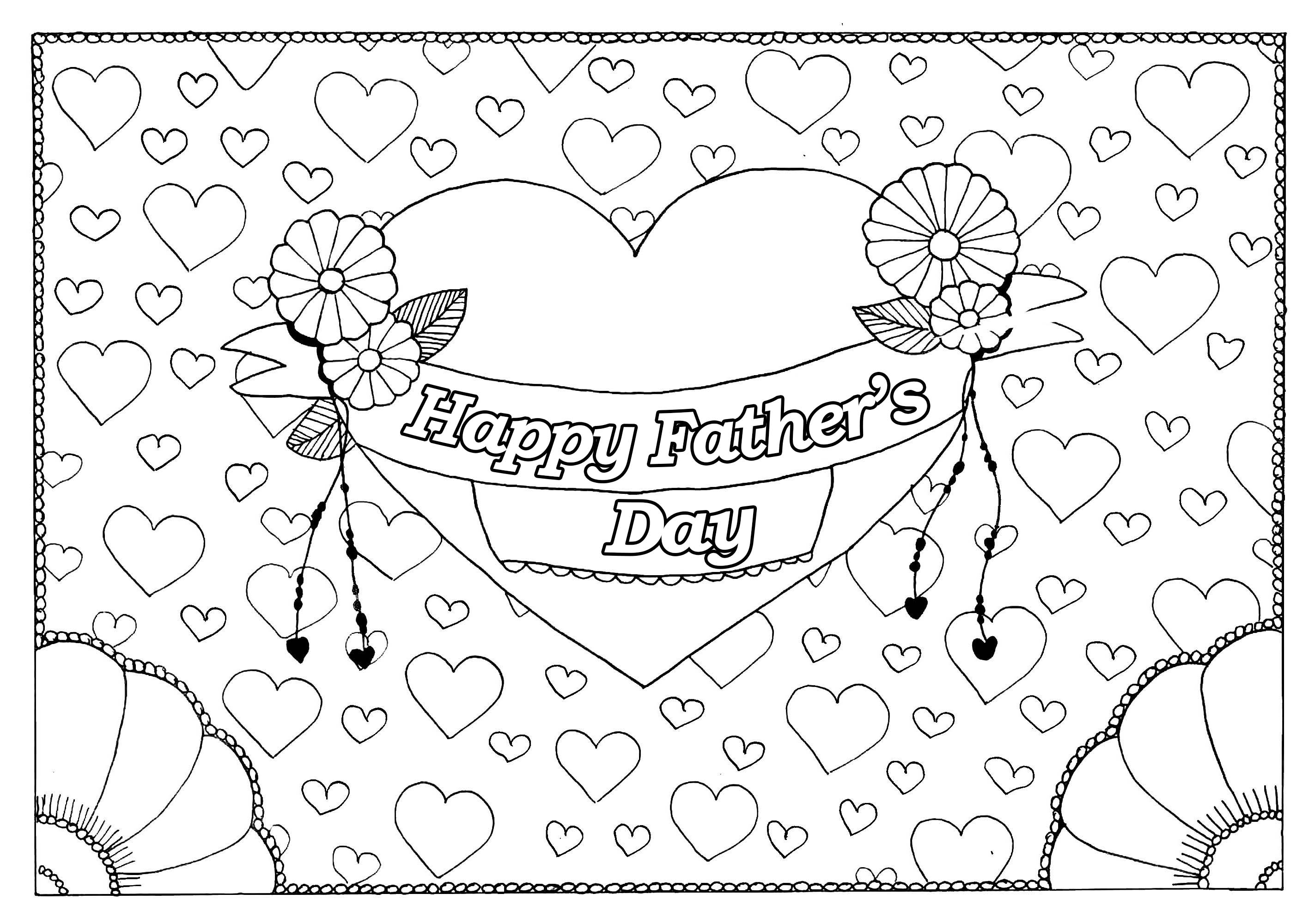 Father s day 5 - Father\'s Day Adult Coloring Pages