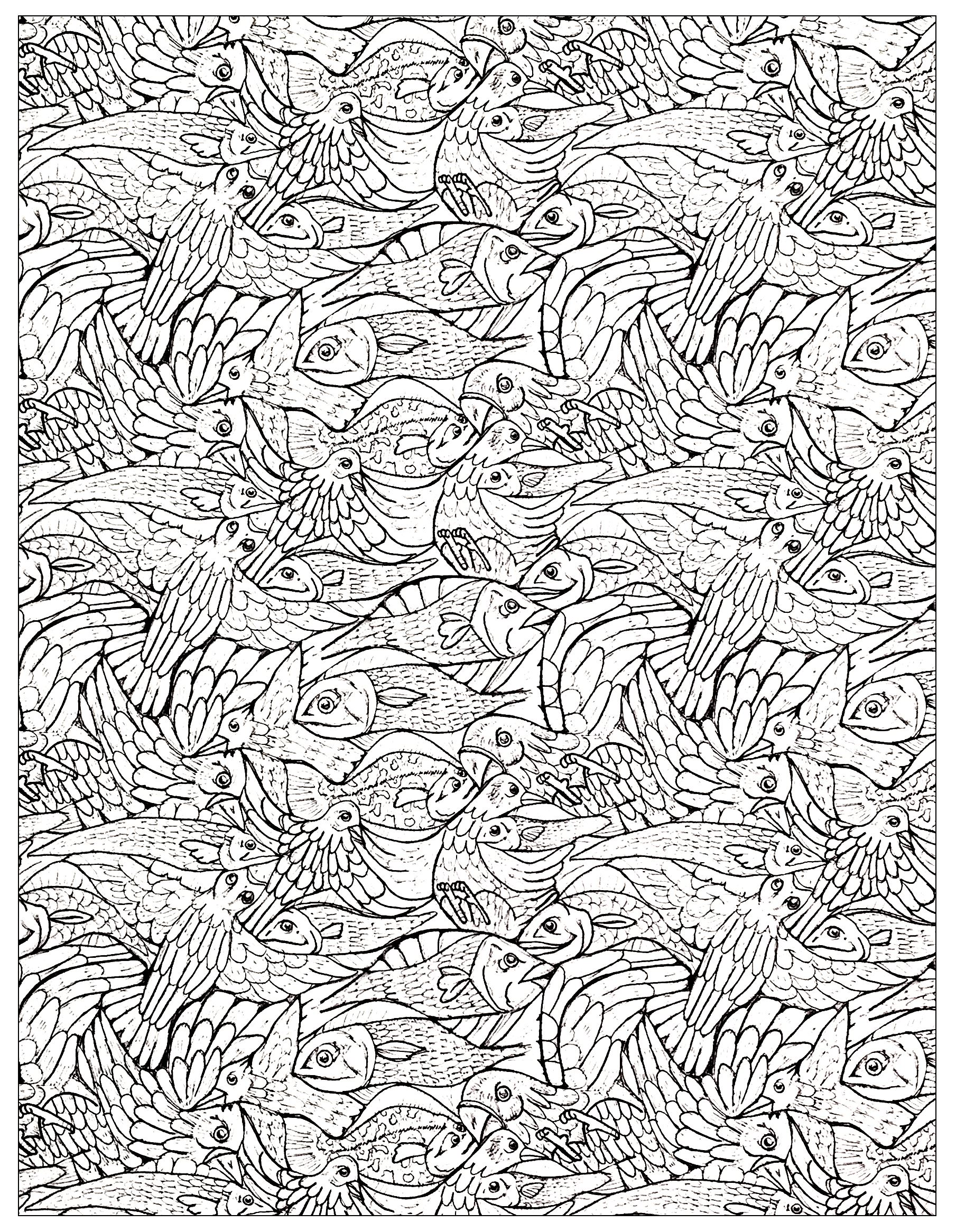 Plenty of fishes to color