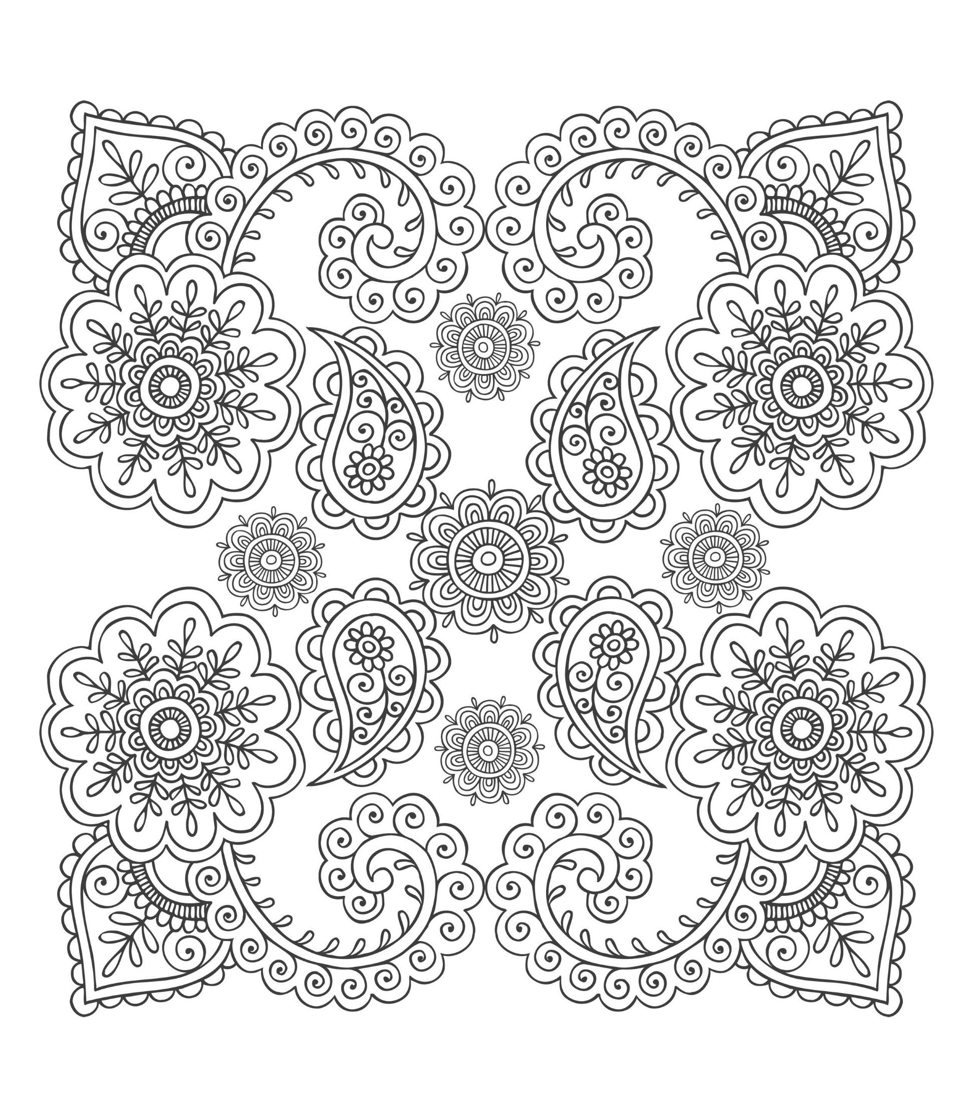 Paisley Patterns To Color