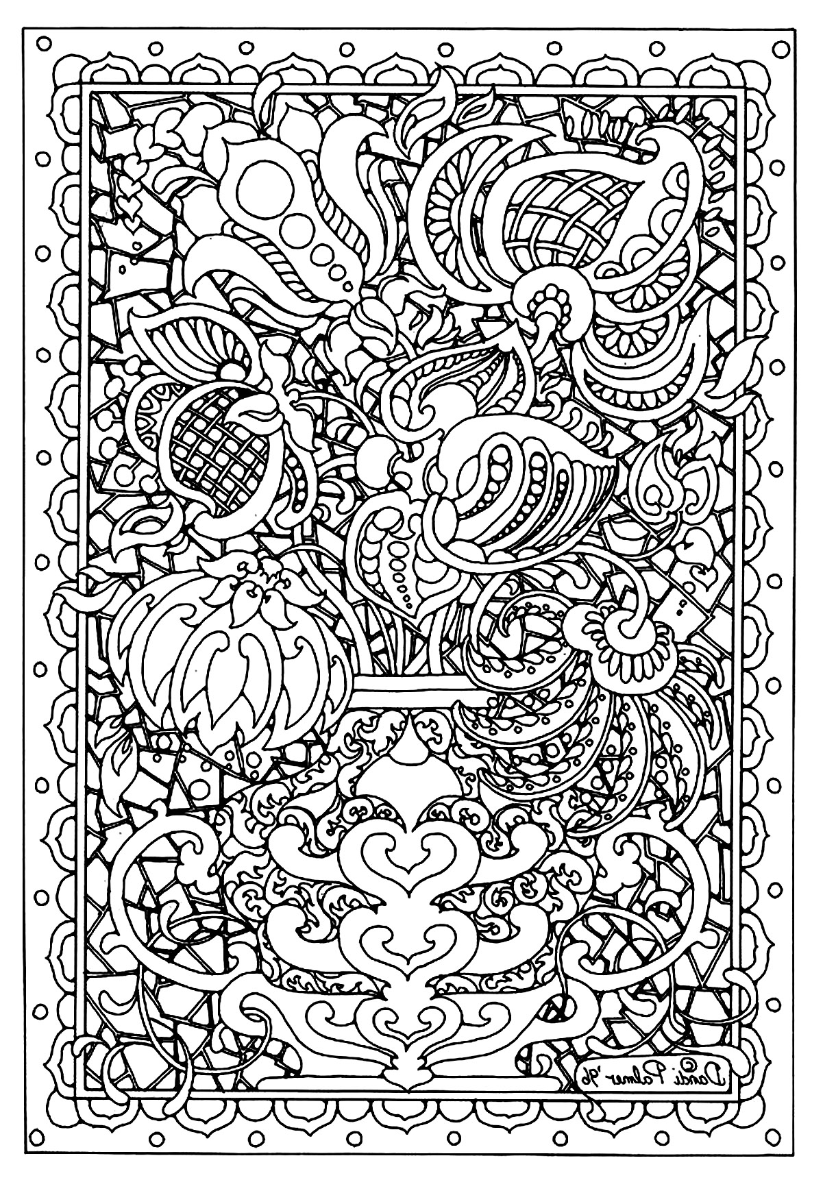 Flower Coloring Pages for Adults - Best Coloring Pages For Kids | 1722x1220