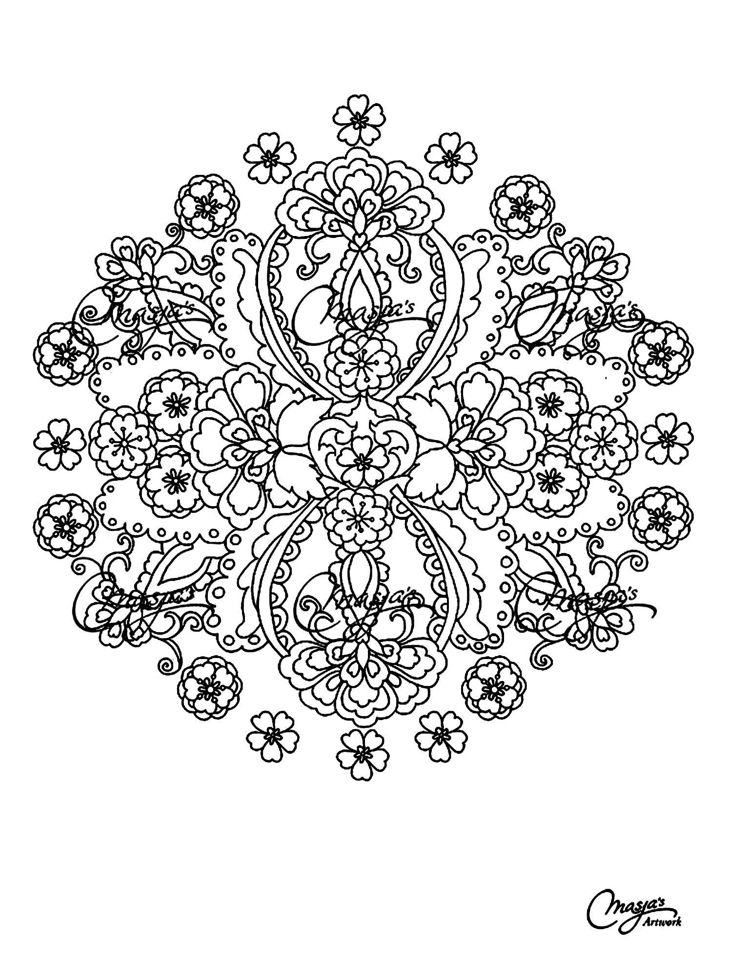 Mystical mandala coloring pages - Mystical Mandala Coloring Pages Free Coloring Adult Mandalas Flowers Free To Print