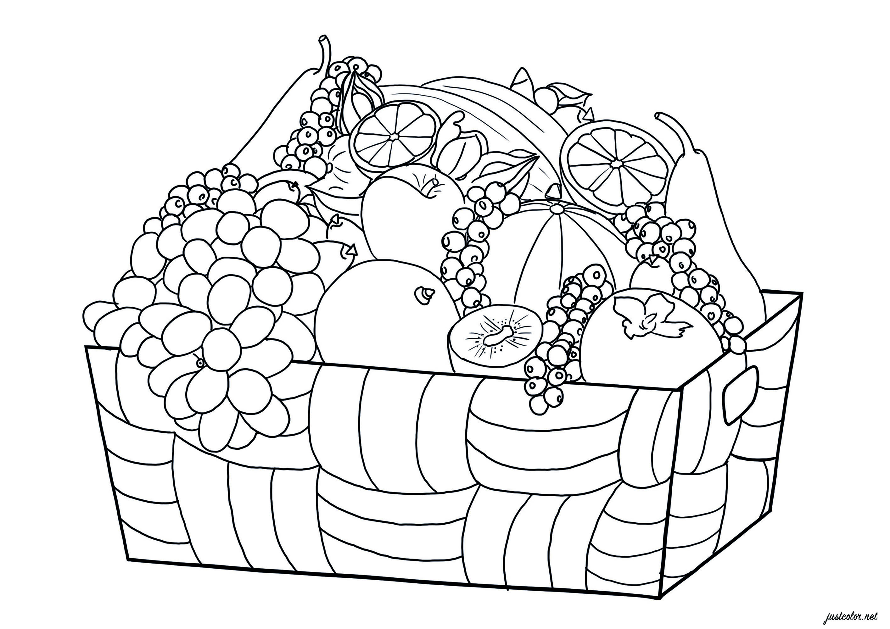 Color all these fruits !