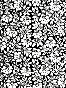 flowers vegetation coloring pages