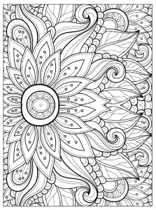 Flowers Vegetation Coloring Pages For Adults Page 4