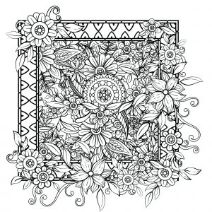 Free Free Printable Spring Flowers Coloring Pages, Download Free ... | 300x300