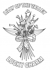 Lilly Of The Valley Coloring Page With Text