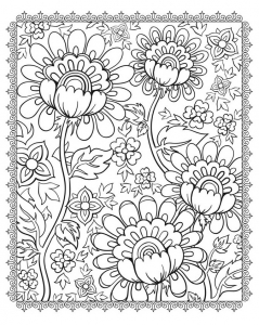 Coloring magnificient flowers