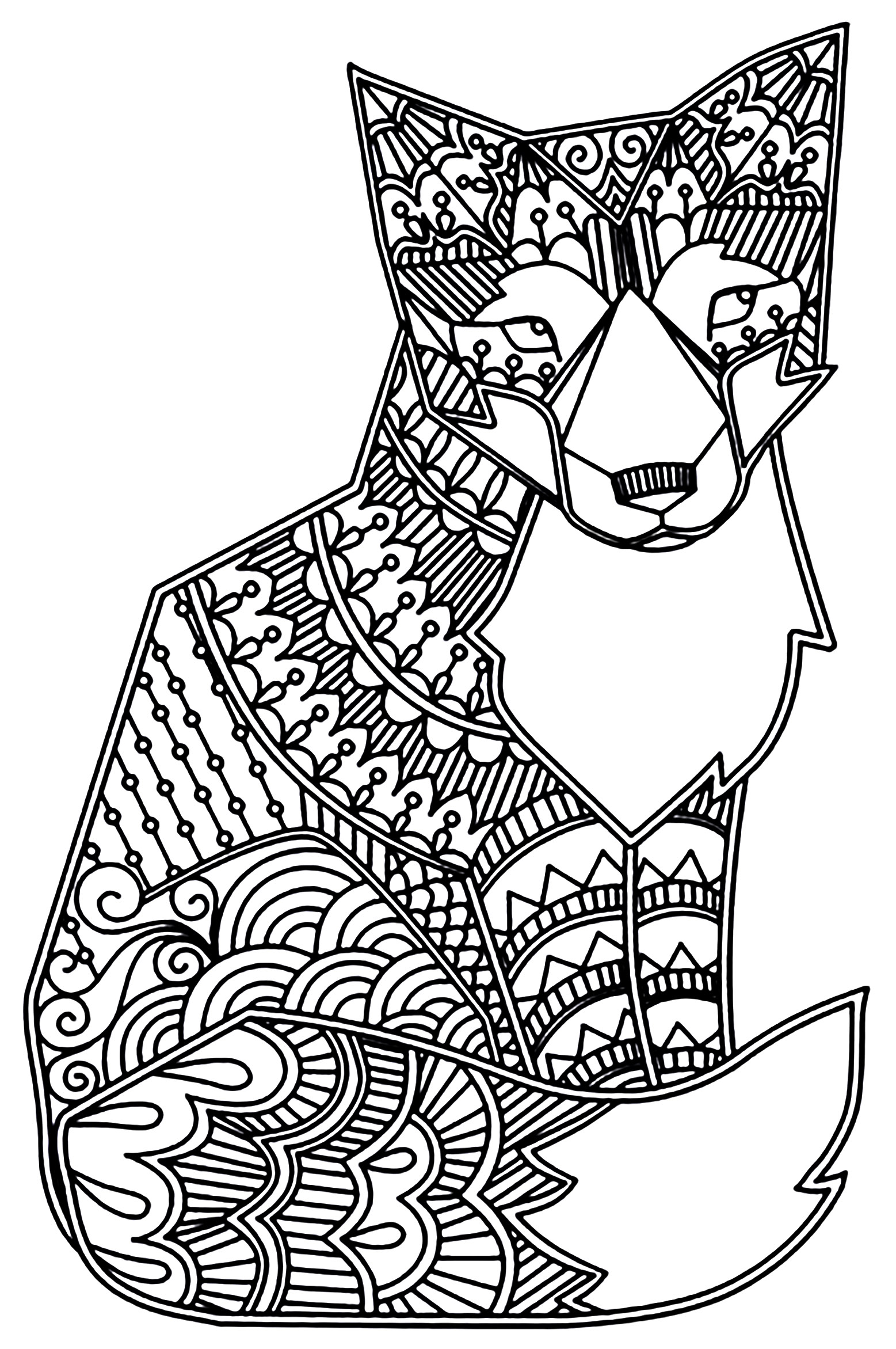 Foxes Adult Coloring Pages
