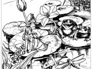 Frogs Coloring Pages for Adults