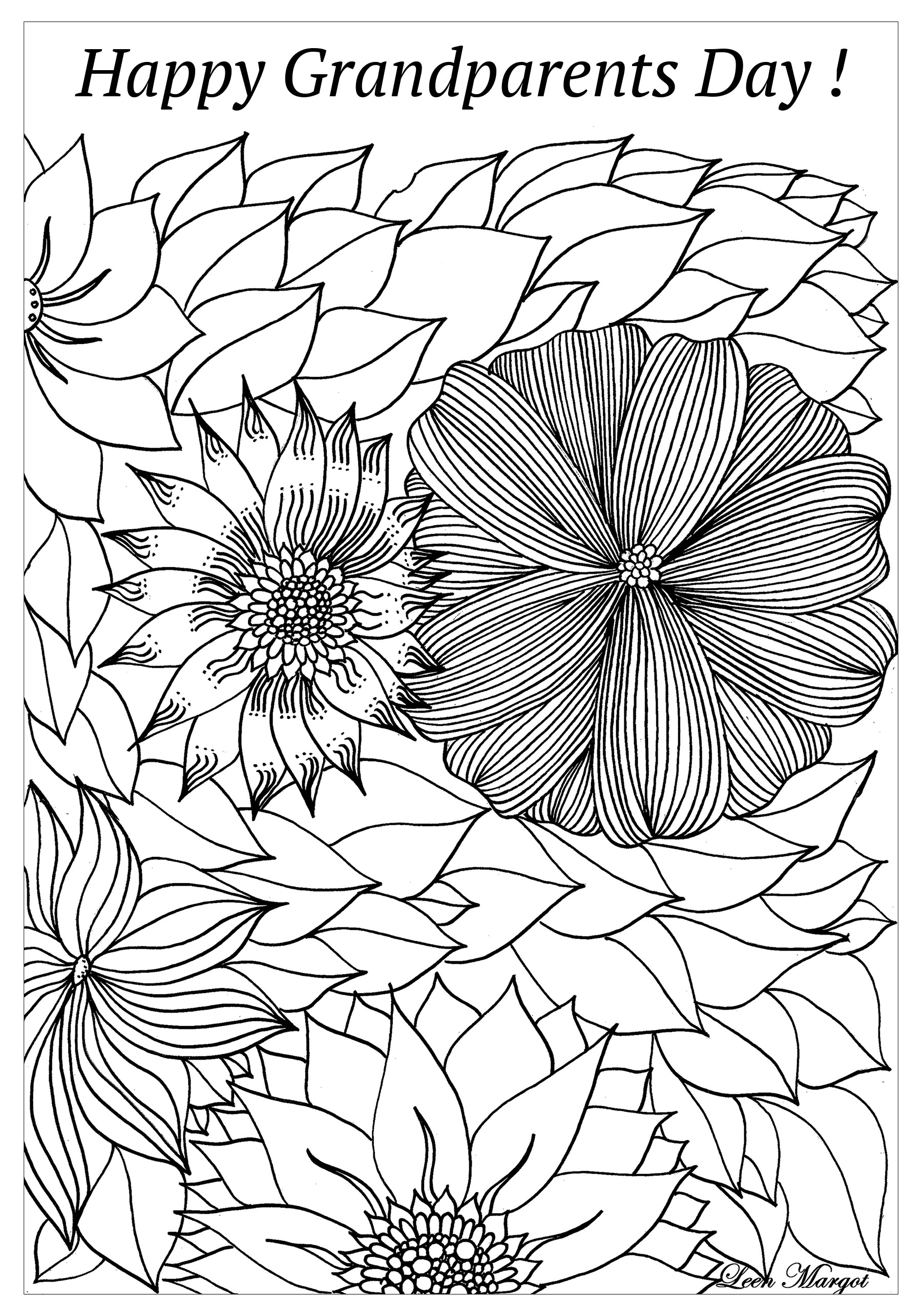 - Complex Happy Grandparents Day - Grandparents Day Adult Coloring Pages