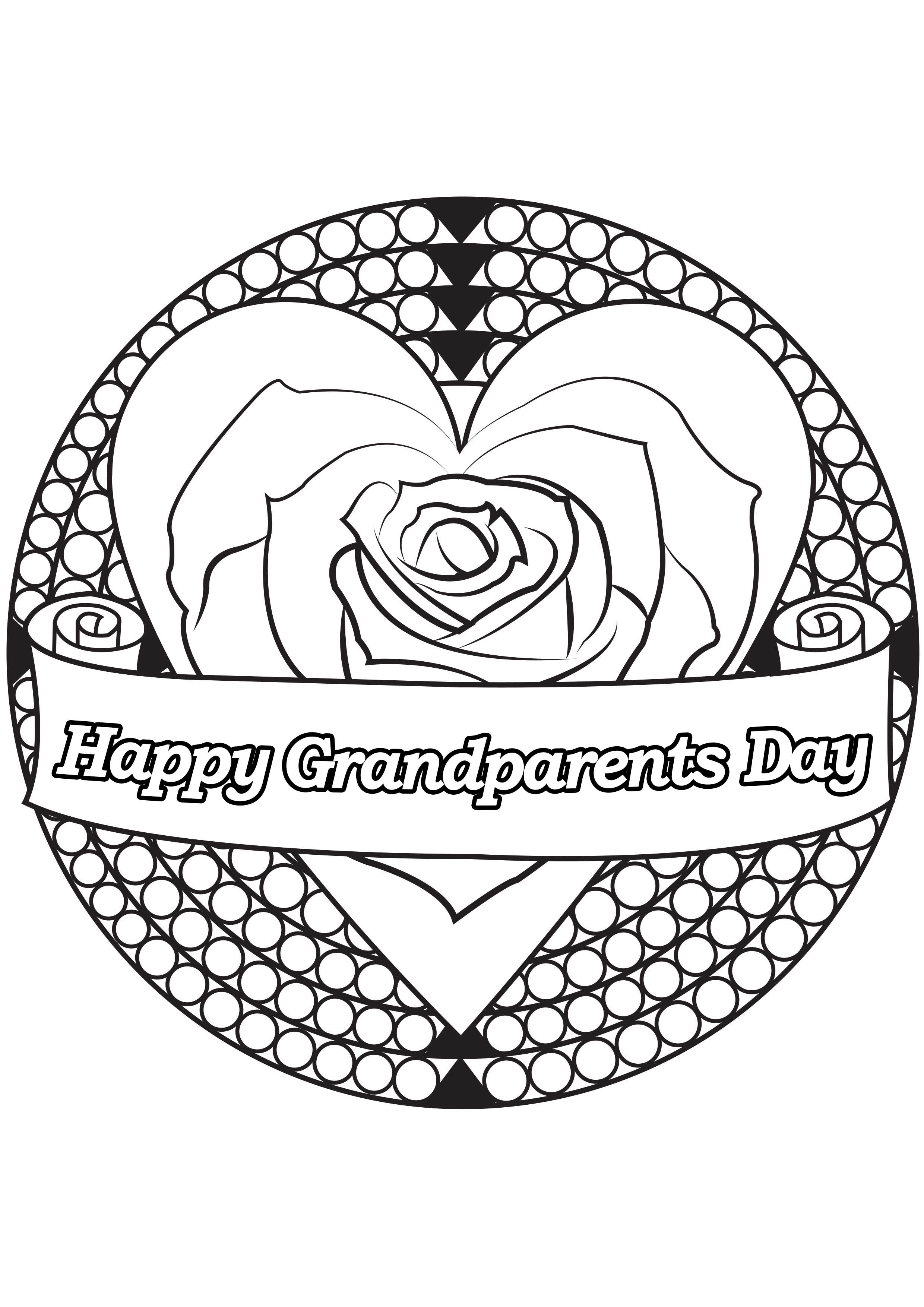 Grandparents day 3 - Grandparents Day - Coloring pages for adults