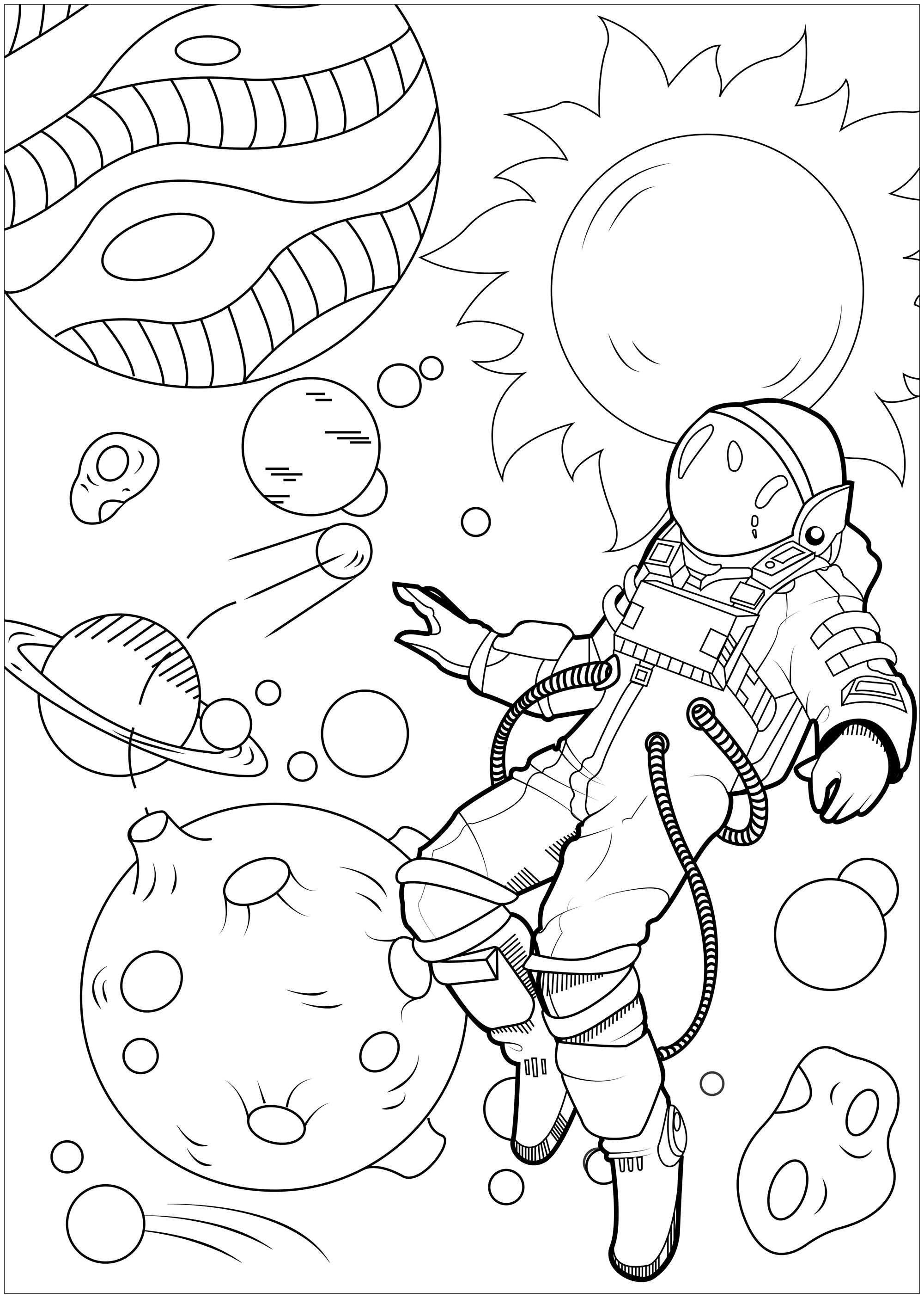 Let yourself float in the galaxy, this astronaut will show you the way!