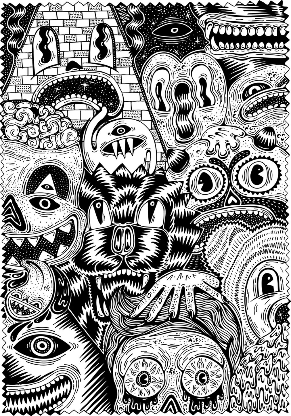 Color this various monsters before they come to haunt your nights
