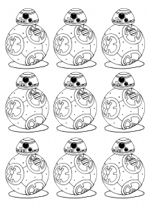 coloring adult bb 8 star wars 7 the force awakens bb8 robot