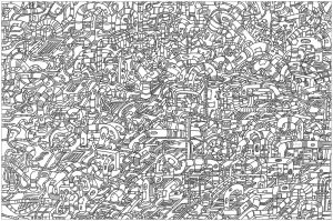 Hoses A Complex Coloring Page Where Is Waldo Style