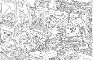 Coloring retro gaming