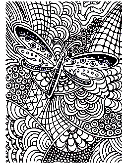 Coloring page of a Butterfly on abstract yet harmonious shapes