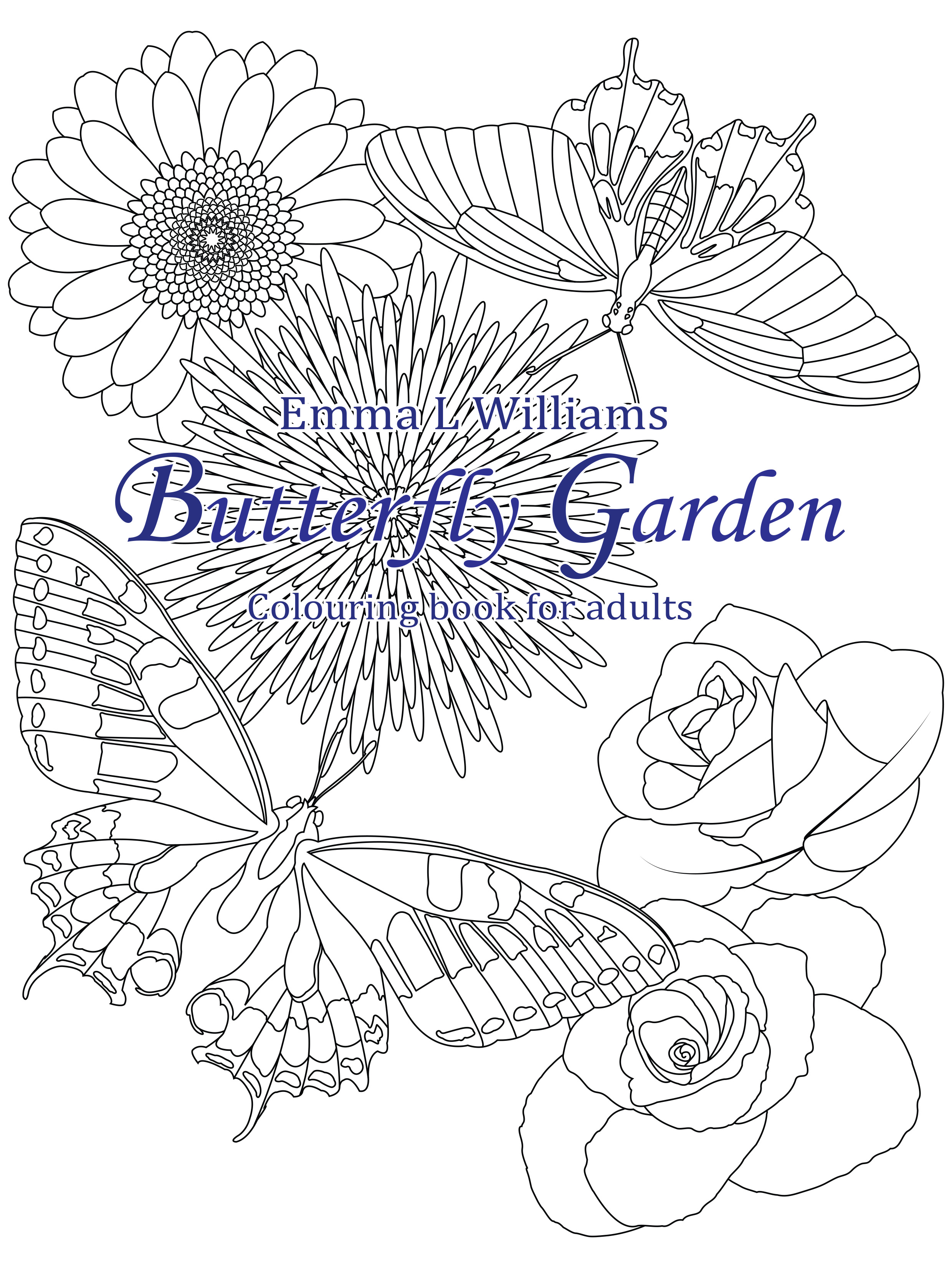 Butterfly Garden Butterflies Insects Adult Coloring Pages
