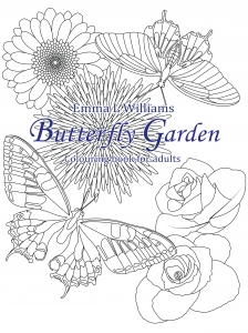 coloring butterfly garden
