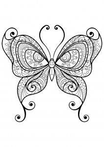 coloring butterfly beautiful patterns 10