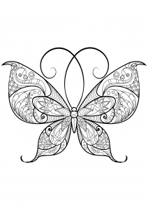 Coloring butterfly beautiful patterns 13