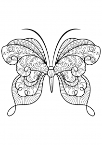 coloring butterfly beautiful patterns 15