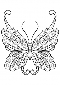 coloring butterfly beautiful patterns 18