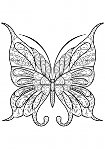 Coloring butterfly beautiful patterns 9