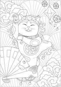 Dancing Maneki Neko cat