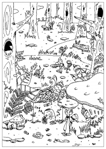 coloring enchanted forest
