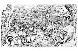 coloring-jungle-forest-animals free to print