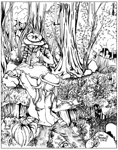 coloring lost in forest