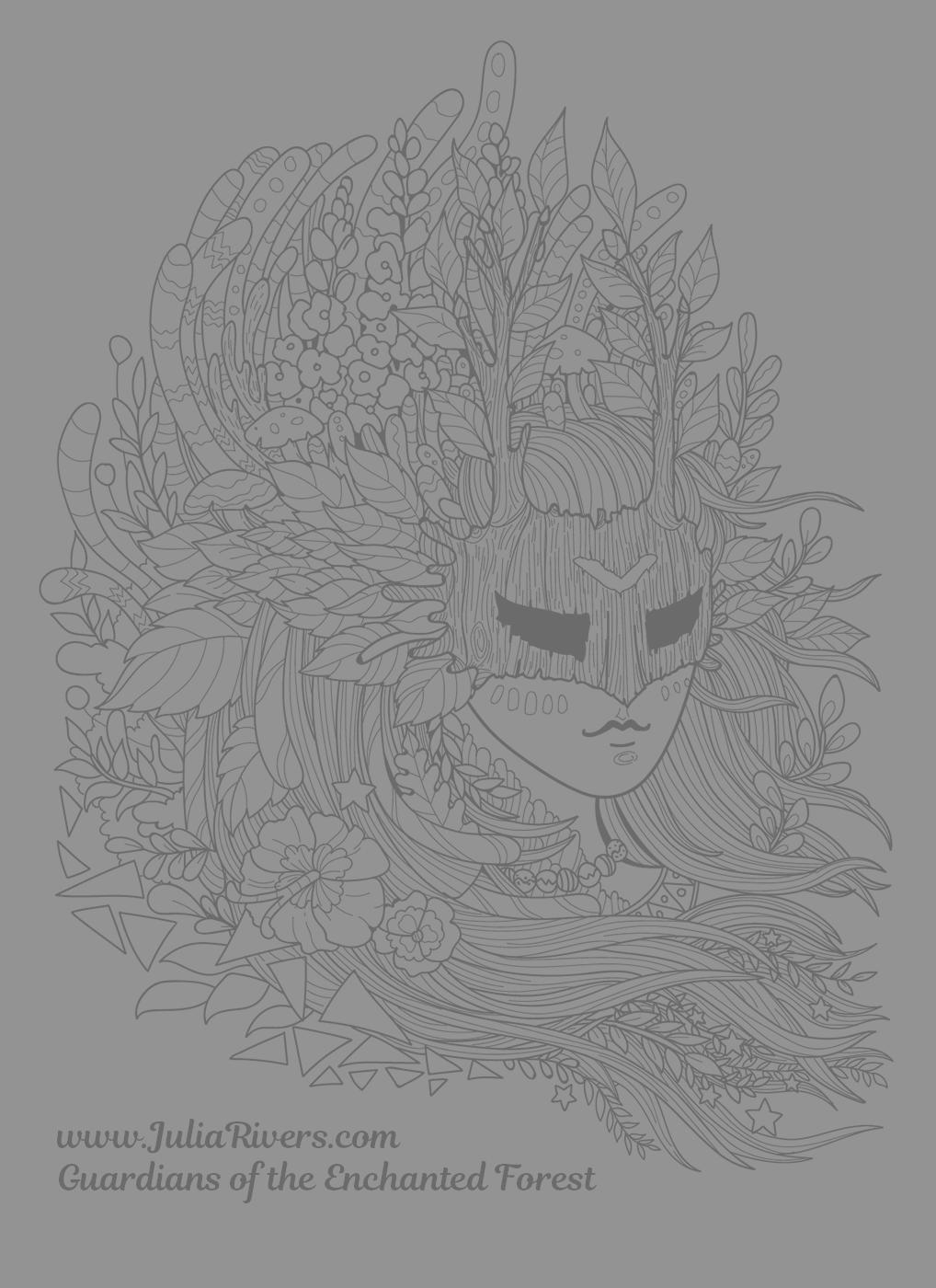 Guardians Of The Enchanted Forest Incredible Coloring Page A Masked Creature