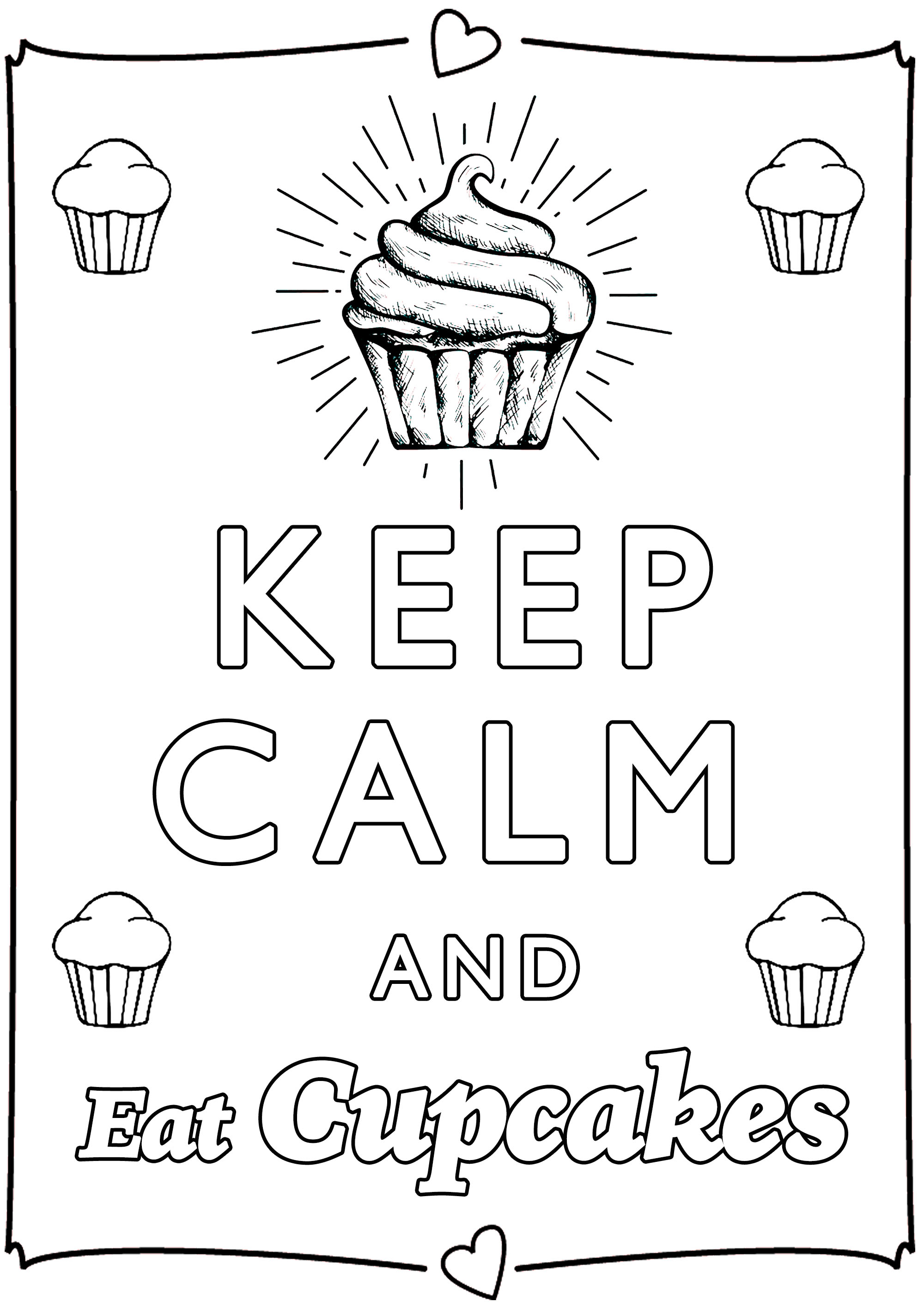 calm coloring pages Keep Calm and eat cupcakes   Keep calm & … Adult Coloring Pages calm coloring pages