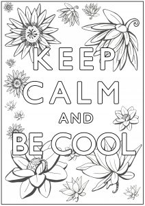 Coloring Keep Calm and be cool