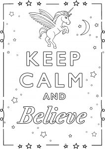 Coloring Keep Calm and believe