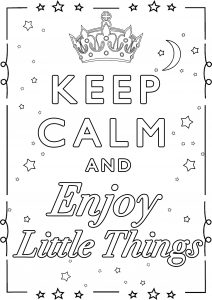 Coloring Keep Calm and enjoy little things