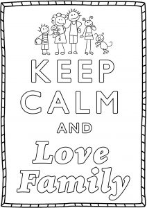 Coloring Keep Calm and love family