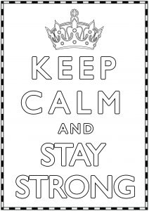 Coloring Keep Calm and stay Strong