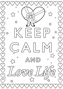 Coloring Keep Calm and Love Life