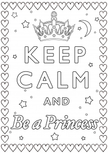 coloring-Keep-Calm-and-be-a-princess