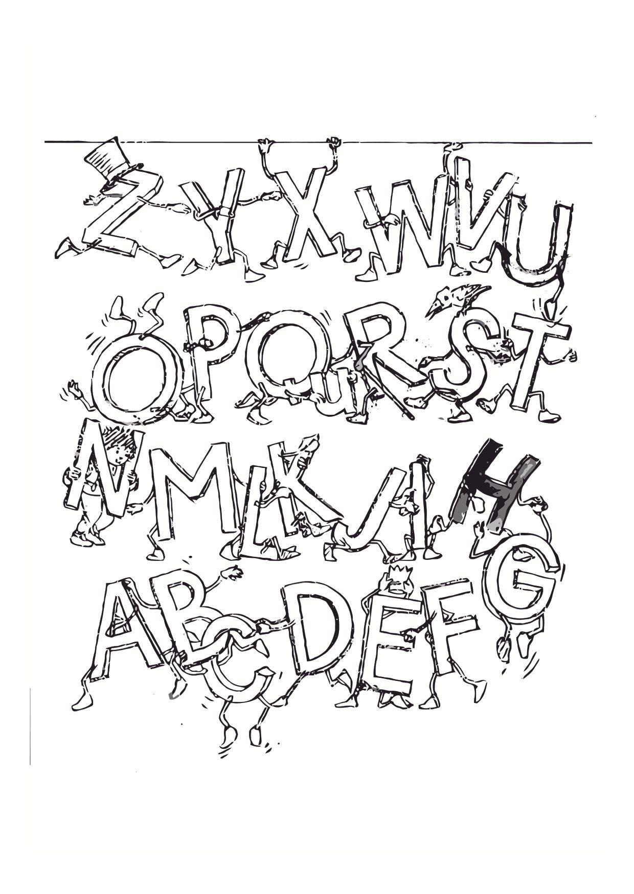 Alphabet Fun Alphabet Coloring Pages For Kids To Print
