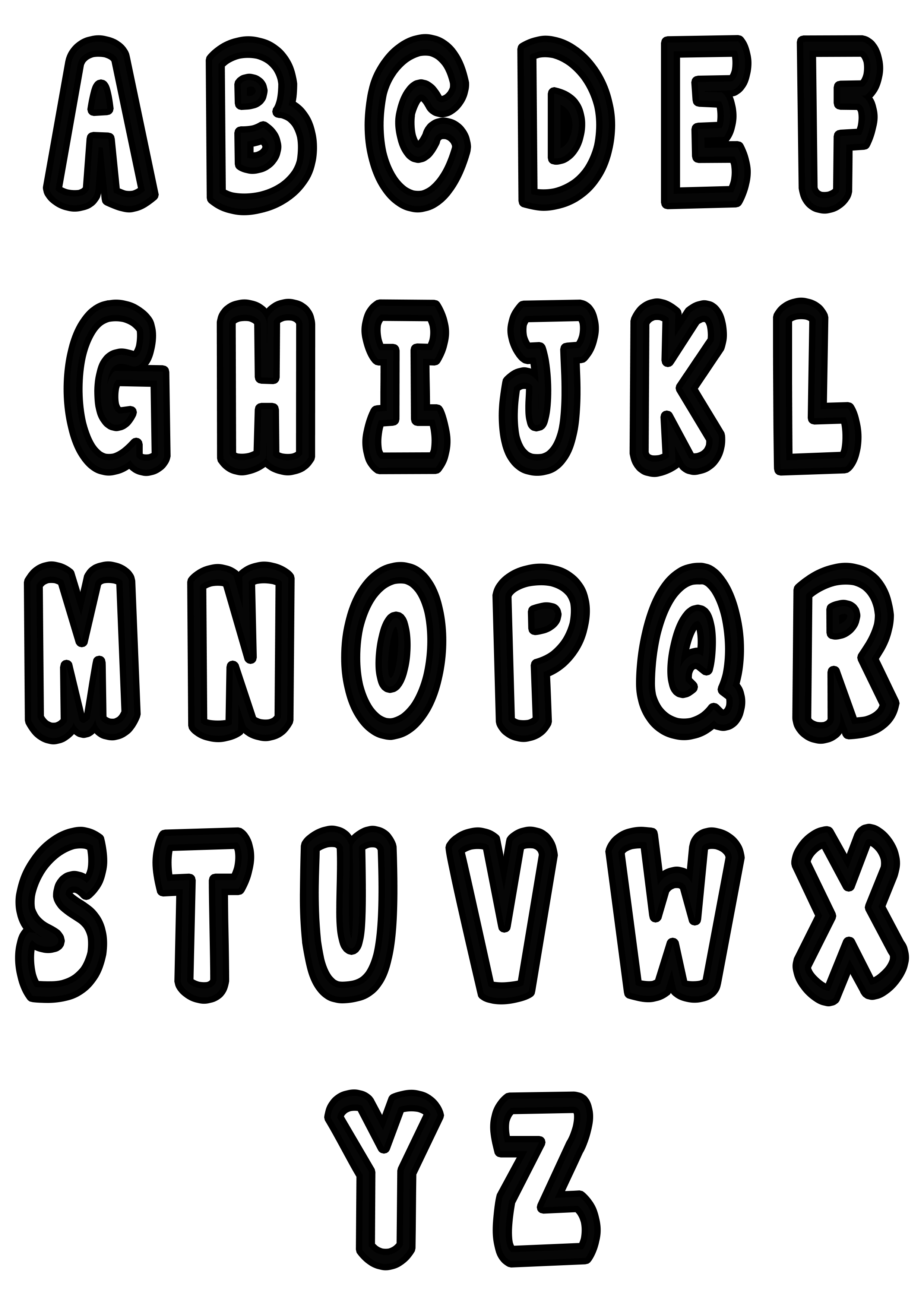 Simple Alphabet 2 Alphabet Coloring Pages For Kids To