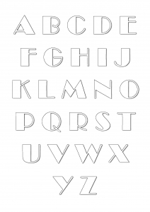 Alphabet Coloring Pages For Kids To Print Color