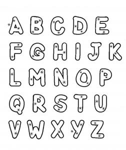 Coloring page alphabet doodle