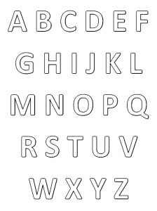 coloring page alphabet simple