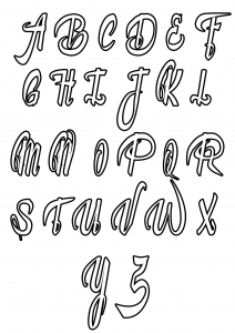 coloring page simple alphabet 4