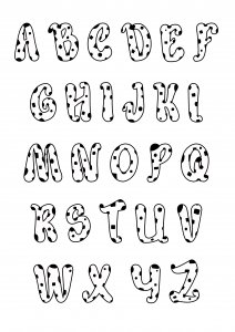 coloring page simple alphabet 8