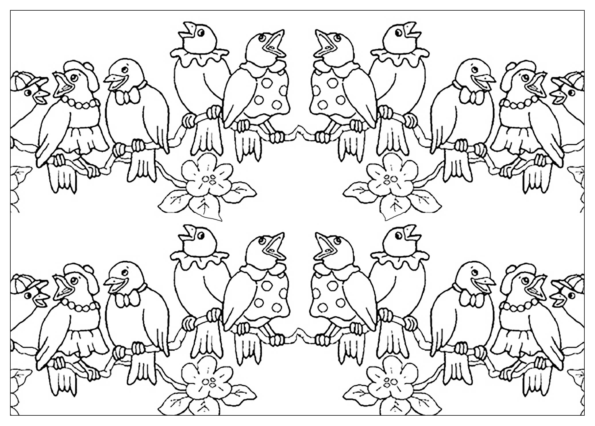 Bird Family Animal Coloring Pages For Kids To Print Amp Color